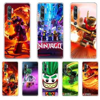 Le-GO Ninjago Masters of Phone Case cover hull For XIAOMI MI 3 4 5 5X 8 9 10 se max pro a2 9T note lite transparent cover 3D image