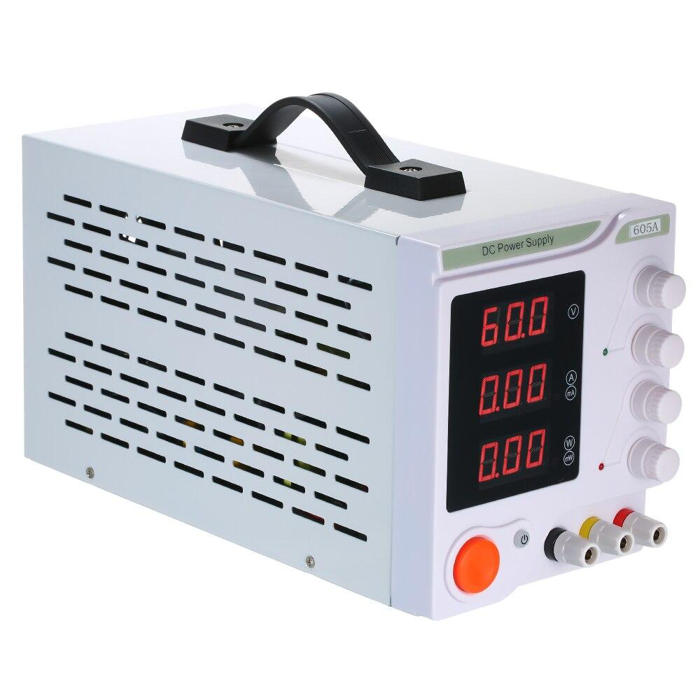 DC Mini laboratoire alimentation réglable stabilisateur de tension régulateur de tension 60V 5A 3 chiffres affichage LED alimentation de laboratoire