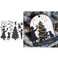 Ожидании Рождества металлический Трафаретный вырубной штамп резки пресс-формы для скрапбукинга и открыток «сделай сам» делающая бумажные ...
