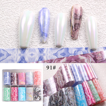 1set/lot 2.5*100cm Butterfly Spring Mix Flower Starry Sky Nail Foils set Transfer Sticker DIY Manicure Decoration Decals - 91