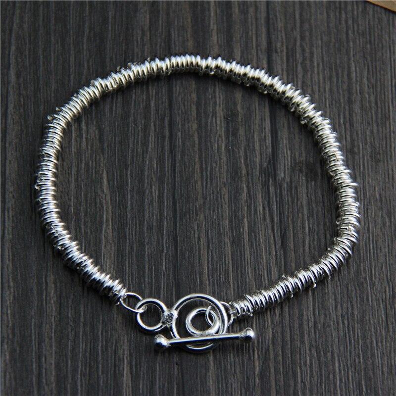 Bracelet en argent Sterling 18*0.45CM 925 pour femmes bijoux fins