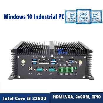 Topton Windows 10 Industrial PC, Fanless Mini Computer with Intel Core i5 8250U i7 7500U CPU,HDMI,VGA, 2xCOM, GPIO, Metal Body - DISCOUNT ITEM  33% OFF All Category
