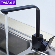 Kitchen Faucet Black Brass Kitchen Sink Faucet 360 Degree Rotation Water Filter Tap Single Hole Cold and Hot Water Mixer Tap copper single hole tap multifunctional rotary type cold hot mixing faucet kitchen pot faucet