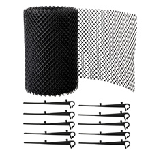 Plastic Gutter Guard Mesh Gutter Guard to Protect from Leaves or Debris Clogging Gutter Downspout and Drain with 10 Fixed Hooks