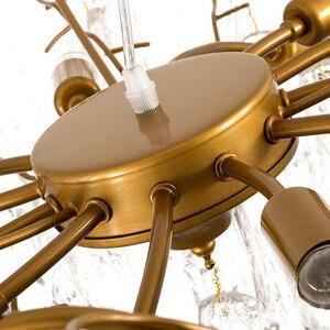 Витое стекло Шато скандинавские креативные светильники роскошная хрустальная люстра освещение Современная Лампа для гостиной столовой зо...
