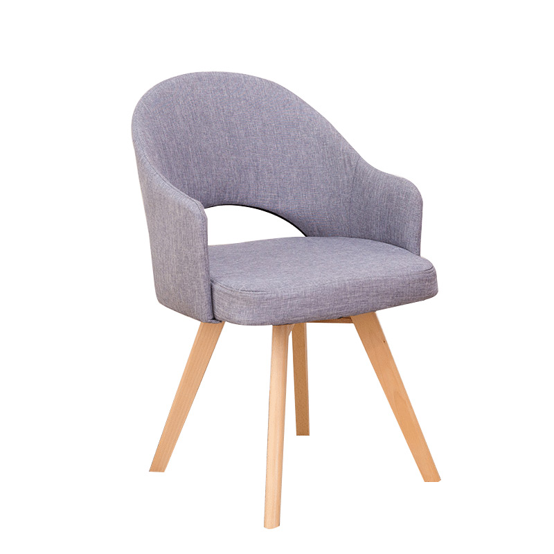 Nordic real wood dining chair cloth art lounge  modern minimalist coffee shop desk computer negotiation office