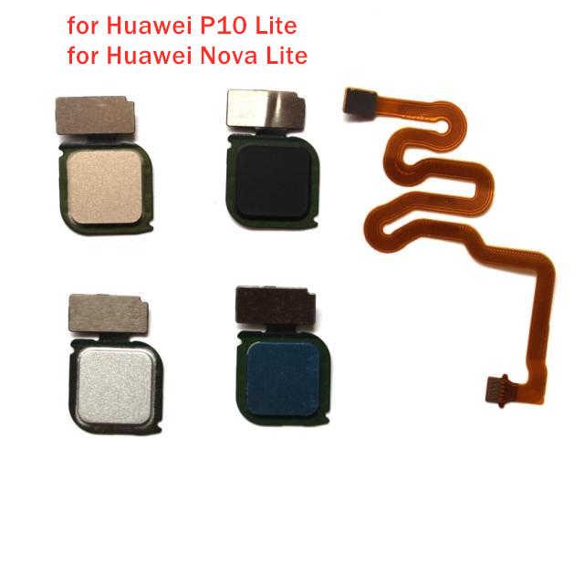 Untuk Huawei P10 Lite Sensor Sidik Jari Scanner Konektor Kunci Tombol Home Touch ID FLEX Kabel Perbaikan Mengganti Bagian Tes QC