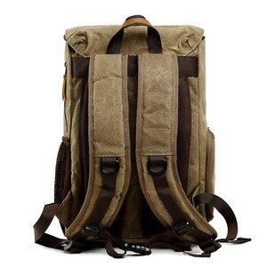 Image 3 - Waterproof DLSR Backpack Camera Bag Large Size Photo Bag Batik Canvas Outdoor DLSR Camera Lens Bag Backpack for Canon Nikon Sony