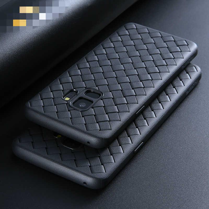 Novedoso pack de tejido funda para samsung S10E S8 S9 S10 Plus Nota 10 Plus Nota 8 9 A70 A60 A50 A40 A30 A10 A8S A6 A6S A9 TPU trenza caso