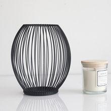 Z30 oco ferro castiçal lanterna formas geométricas centro de mesa mesa de café preto sala estar decoração casa presente
