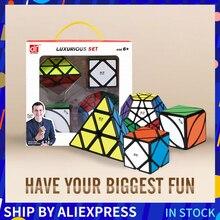 Mofangge 3*3*3 cubos mágicos velocidade cubo luxuoso conjunto de cubo 4 pces 3*3/4*4/5*5 cubos de quebra cabeças profissionais brinquedos de aprendizagem para crianças
