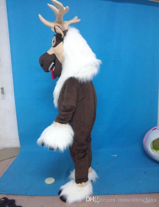 Image 2 - 2019 Unisex Adult Deer mascot costume Sven costume reindeer mascot costume Advertising SuitsMascot   -