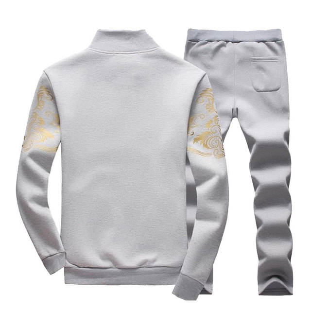 Spring Tracksuits Men Sporting Gyms Mens Set Casual Outfit Sportswear Fitness Men's Clothing Bodybuilding Male Zipper Sweat Suit 3