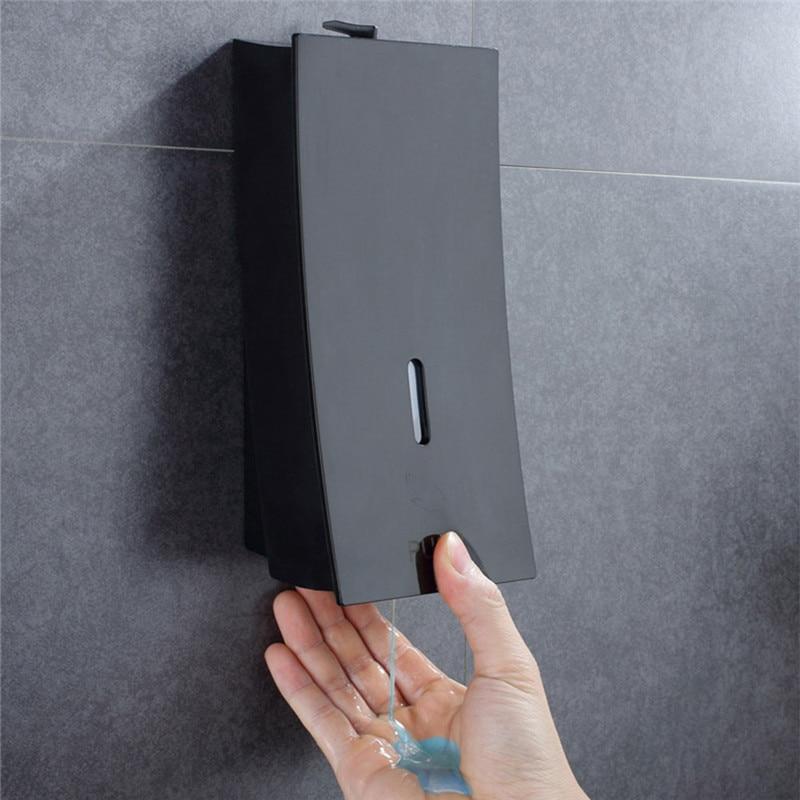 LIUYUE Soap Liquid Dispenser Black Bathroom Wall Mounted Shampoo Shower Gel 450 Ml Hand Press Plastic Container Kitchen Washroom
