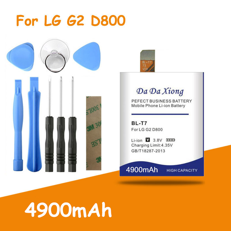 Free shipping 4900mAh <font><b>BL</b></font>-<font><b>T7</b></font> BLT7 Battery for <font><b>LG</b></font> Optimus G2 D800 D802 D801 L-01F LS980 P693 VS9801 VS980 LS980 + free tools image