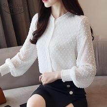 Blusa de manga larga con cuello redondo para mujer, camisa de estilo coreano, 0974, 30