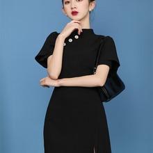Zanzea Hot Sale Dress Women 2020 Short Style Slim Black Dres