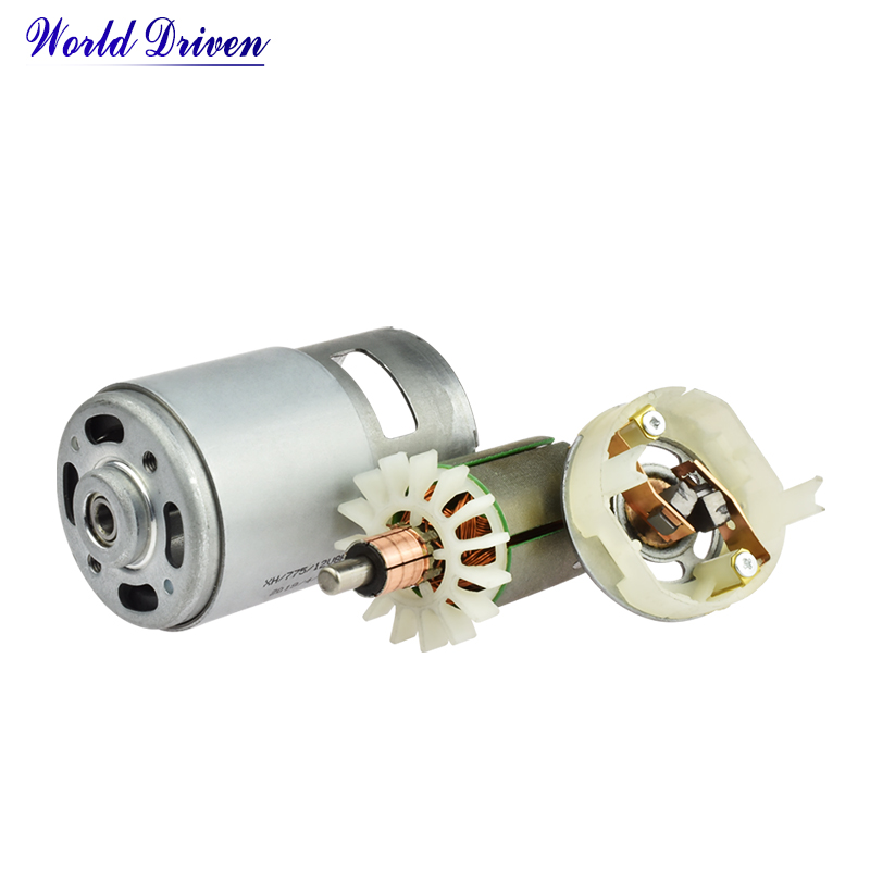 775 Gear Mini 24v Brushed 12 Volt Industrial Geared Electric 24 Permanent Magnet Price Dc 12v Motor