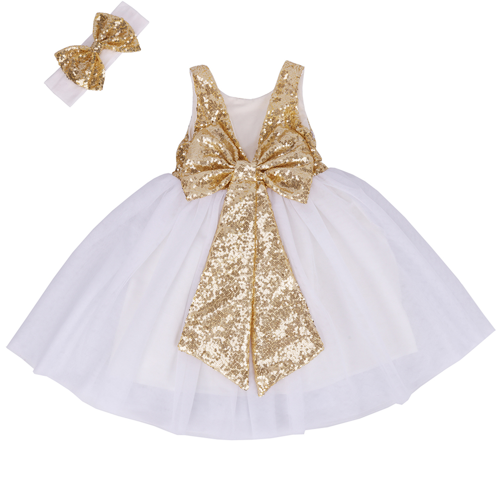 EFOFEI Girls Sleeveless Round Neck Sequin Party Tutu Tulle Prom Gown Formal Dress