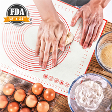 Rolling-Pad Pastry Baking-Mats Oven-Liner Non-Stick-Flour Glass Kitchen Silicone Large