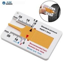 Ferramenta de medição de profundidade 0-20mm, ferramenta de medição de profundidade de leitura de pneu de carro e metal