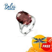 Bolaijewelry,Zultanite rings 925 sterling sliver fine jewelry gemstone created Color Change elegant design top quality gift