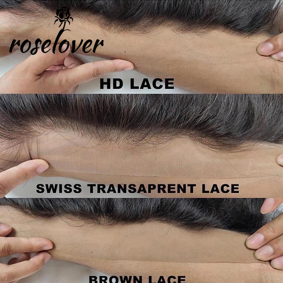 HD Lace Frontals Pre Plucked Ear To Ear 13X4 Invisible Lace Frontal Closures Transparent Lace Frontals Brazilian Straight Hair