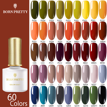 BORN PRETTY Autumn Series Gel Nail Polish 60 Colors 6ml Orange Yellow  Nail Color Soak Off UV Gel Varnish Nail Art Design недорого