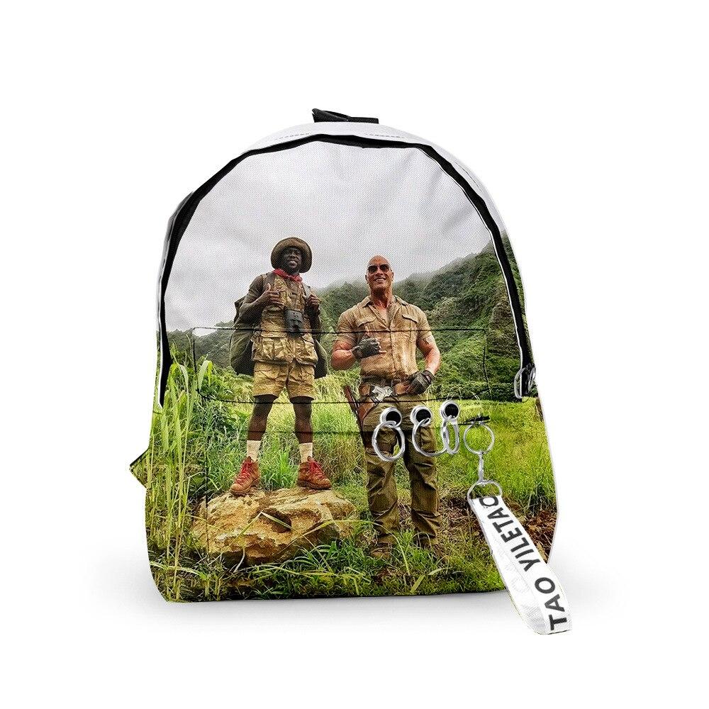 2019 Movie Jumanji Spencer Dr. Bravest Backpack Cosplay Deadpool laptop bag Adult Travel Student Shoulder Bags Batman Travel bag