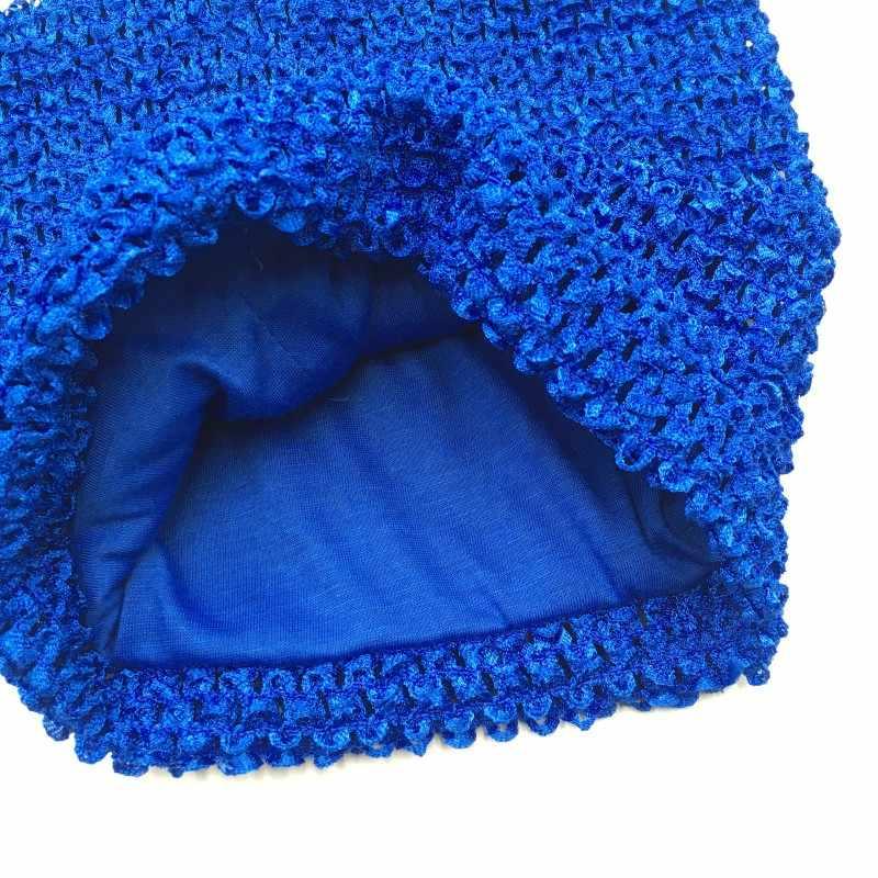 1 ud./lote 8 pulgadas tubo de tutú forro de ganchillo pecho envuelto elástico 20x20cm tamaño grande Kintting hecho a mano niñas DIY accesorios para falda