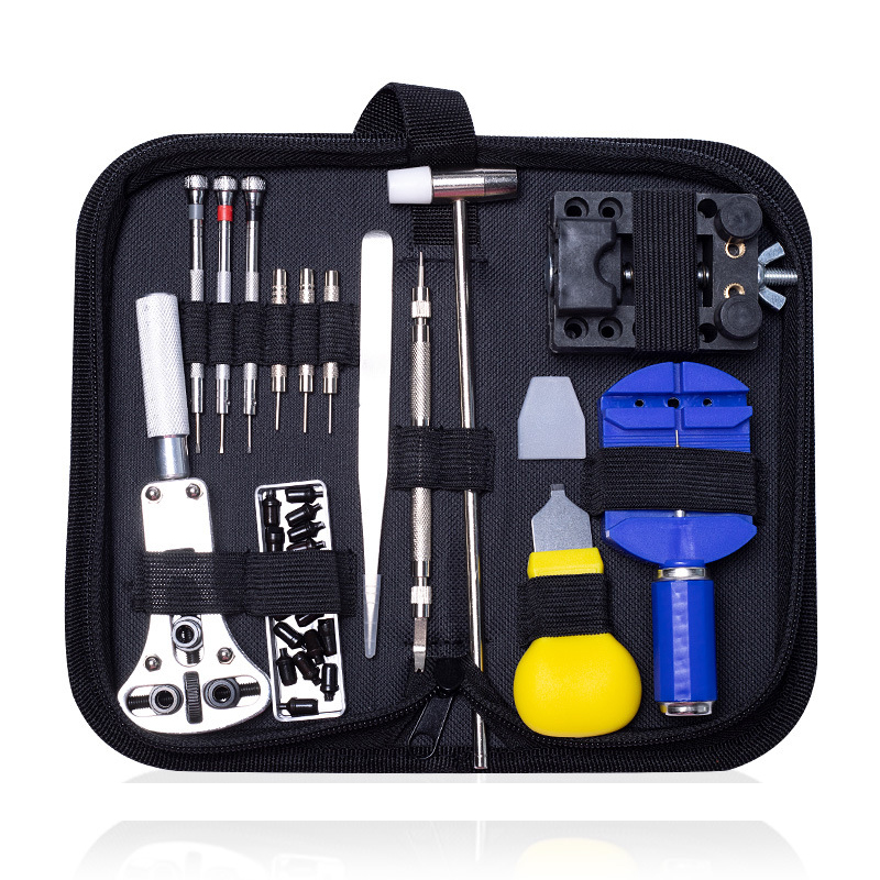Watch Repair Tools Kit With Carrying Case Professional Watch Opener Pin Link Remover Bar Instruments Set Spring Bar Bar