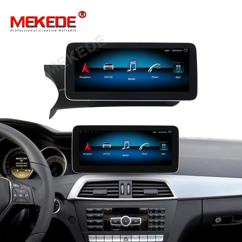 High-end system!4GB+64GB <font><b>android</b></font> 9.0 car <font><b>autoradio</b></font> gps navigation player for <font><b>Mercedes</b></font> benz C Class <font><b>W204</b></font> 2011-2013 NTG 4.5 navi image