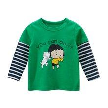 Хлопковая футболка с длинным рукавом для девочек 2 7 лет