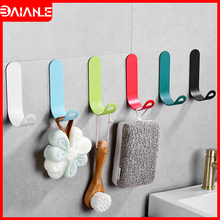Robe Hook Black Bathroom Hook for Towels Key Backpack Clothes Hanger Adhesive Wall Mounted Coat Hook Rack Bathroom Accessories robe hook black clothes coat hook wall hanger decorative deer head bathroom hook for towels key bag hat rack bathroom hardware