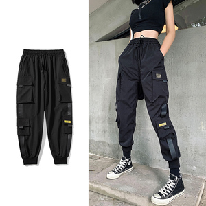 Streetwear Black Pants Women Korean Style Elastic Waist Sweatpants Baggy Pants Summer Autumn Hip Hop Harajuku Trousers Women