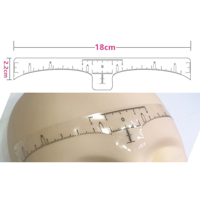 Reusable Semi Permanent Eyebrow Stencil Makeup Microblading Measure Tattoo Ruler Tools,Eyebrow Stencil 3