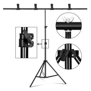 T-shape задний фон подставка рамка поддержка системы комплект для фотостудии видео Chroma Key Зеленый экран с подставкой 8 Размер