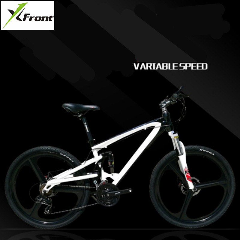 New Brand Mountain Bike Soft Tail Aluminum Alloy Frame Bike SHIMAN0 M370 Hydraulic Disc Brake Bicycle 21/24/27 Speed MTB image