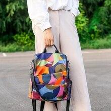 OEAK Fashion Anti-theft Women Backpacks Ladies Large Capacity Backpack High Quality Waterproof Oxford Women Backpacks