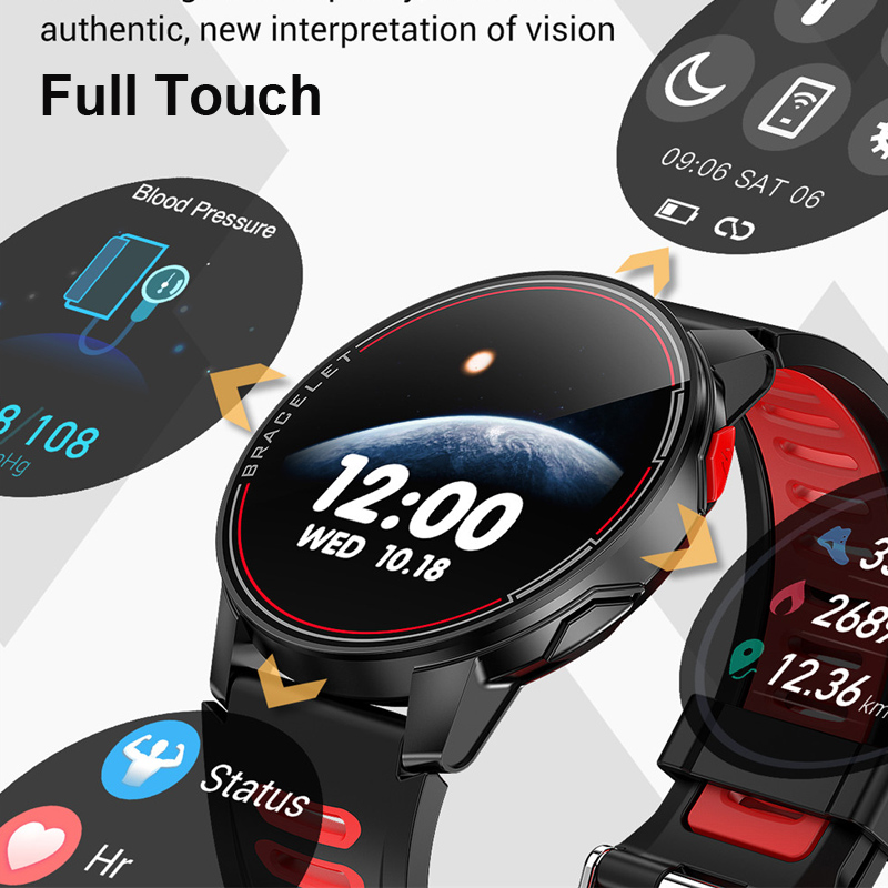 2020 Full Touch Round Smart Watch Men IP68 Waterproof Blood Pressure Smartwatch Women Heart Rate Sport Clock For Android IOS 2