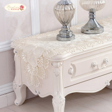 Proud Rose Beige Table Cloth Lace Table Runner Table Flag Bed Runner Jacquard Weave Table Runner Pastoral TV Cabinet Cover Cloth proud rose lace table runner table flag tablecloth european rectangular table cloth tv cabinet cover cloth wedding decoration