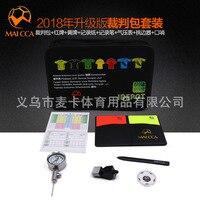 Football Referee Kit Referee Tool Bag Football Referee Storage Bag And Yellow Cards Barometer Flag Whistle