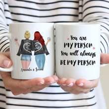 Tasse à café blanche personnalisée avec noms des meilleurs amis, tasses mignonnes, 11oz/15oz, 2 noms De filles, cadeau pour filles, R2050