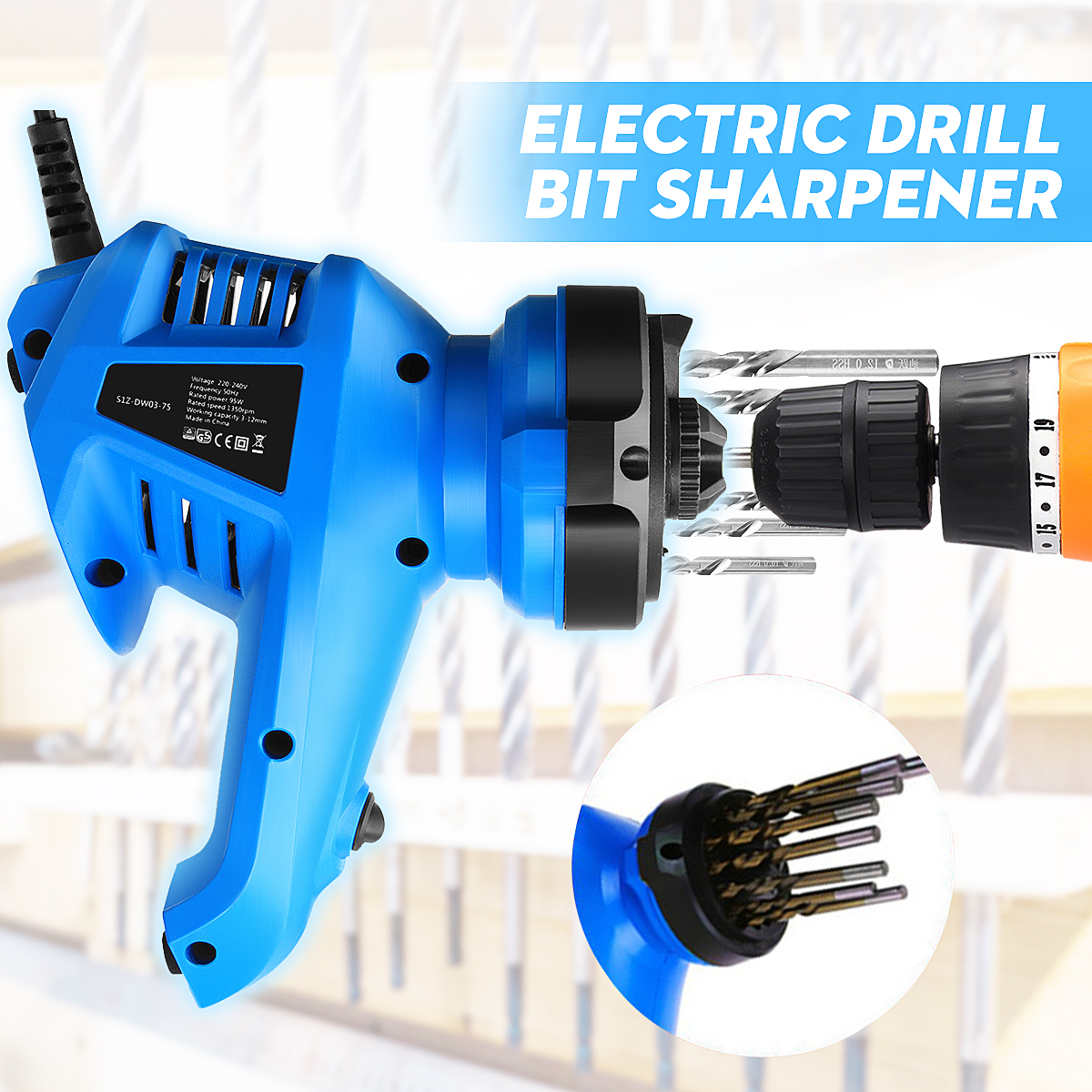 3-12MM Electric Multi Grinding Tool Rotary Grinder Machine Twist Drill Bit Sharpener 95W 220V Power Tools Dropshipping