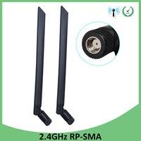 booster antenne 2pcs 2.4GHz wifi antenn אוויר 5dBi RP-SMA מחבר Antena 2.4G Antenne wi fi Antenas wifi אנטנות Booster נתב אלחוטי (1)