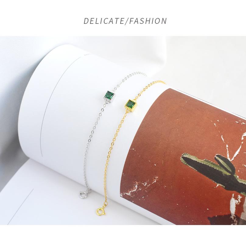 Женский минималистичный браслет leouerry элегантный из стерлингового