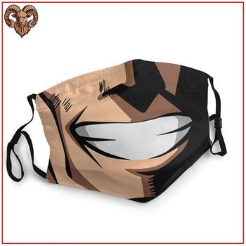 Mascarilla facial de All Might reutilizable con filtro lavable Boku No Hero Boku no Hero Mascarillas de Anime