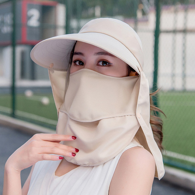 Summer Women Girl Anti Flu virus Hat Mask Sun Protective Breathable Anti-UV Double Layer маска для Headwear Cotton Cycling Cap 3