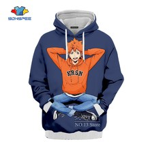 SONSPEE Haikyuu Anime Harajuku hombres mujeres Unisex ropa 3D con capucha Hoodies Plussize 7XL Cap Hoody sudadera chaqueta mujer jumper(China)