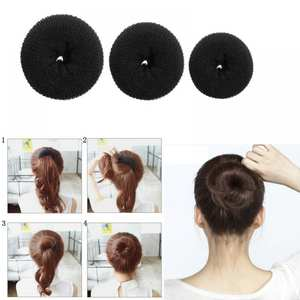 Hair Bun Maker Donut Magic Foam Sponge Easy Big Ring Products Hairstyle Hair Accessories